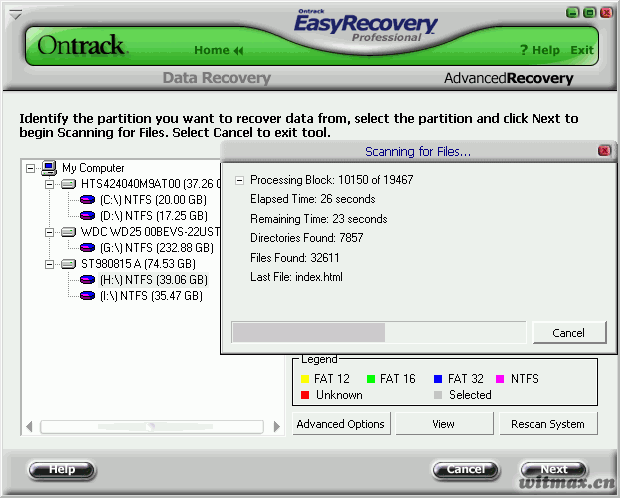EasyRecovery 扫描分区